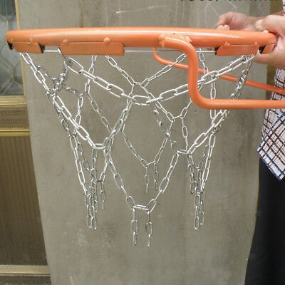 Replacement Basketball Steel Chain Net Ring Hoop Heavy Duty Outdoor Sports