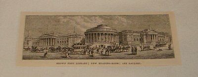 1879 magazine engraving ~ BROWN FREE LIBRARY+GALLERY, Liverpool