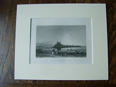 Pile Of Fouldray Castle, Piel Island -Mounted Engraving By George Pickering 1845