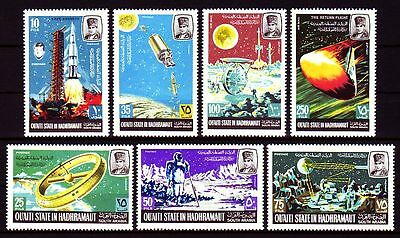 Aden Qu'aiti 1967 ** Mi.115/21 A Weltraum Space Apollo Cape Kennedy
