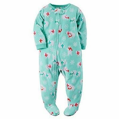 NWT ☀FOOTED FLEECE☀ CARTERS Girls POLAR BEARS Pajamas YOU PICK  12m 18m 24m 3T