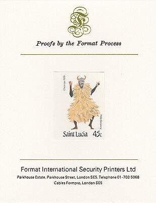 St Lucia 3349 - 1985 Christmas 45c on FORMAT  INTERNATIONAL  PROOF  CARD