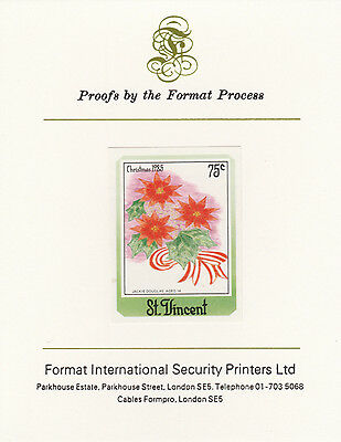 St Vincent 3356 - 1985 Christmas 75c on FORMAT  INTERNATIONAL  PROOF  CARD