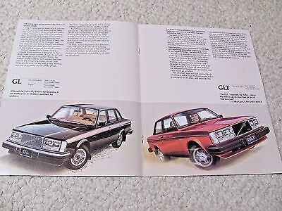1982 Volvo (Usa) Sales Brochure..