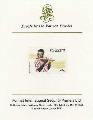 St Vincent 3362 - 1985 Musical Instruments on FORMAT  INTERNATIONAL  PROOF  CARD