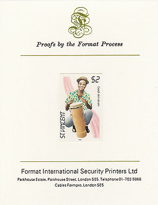 St Vincent 3365 - 1985 Musical Instruments on FORMAT  INTERNATIONAL  PROOF  CARD