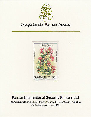 St Vincent 3367 - 1985 Herbs & Spices 35c on FORMAT  INTERNATIONAL  PROOF  CARD