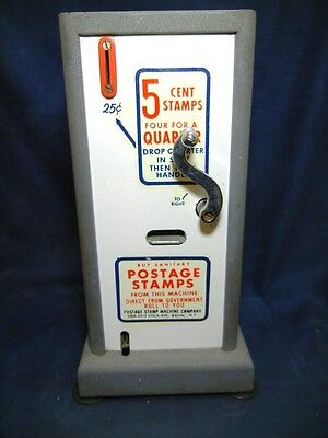 Vintage Coin Operated U.s. Postal Stamp Crank Style Vending Machine