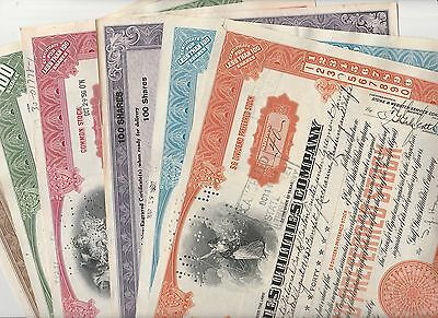 GSU Stock Certificates Collection  of 6 different 1939-1953 VF