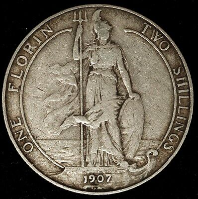 Great Britain 1907 Florin / 2 Shillings Edward VII Circ.