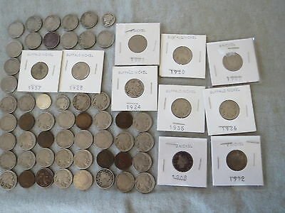 Indian Head Cents Liberty Buffalo Nickel Lot Coins plus a couple of Barber Dimes