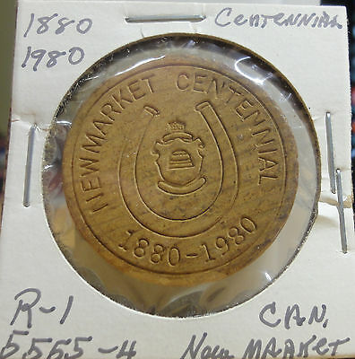 1880-1980 New Market,Canada Centennial Wooden Quarter~THE MEETING PLACE
