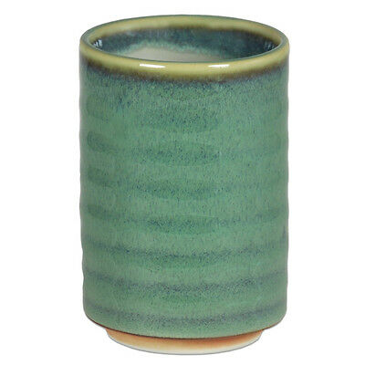 "Japanese 3.75"" H Porcelain Yunomi Tea Cup/Spruce Green/Made in Japan"