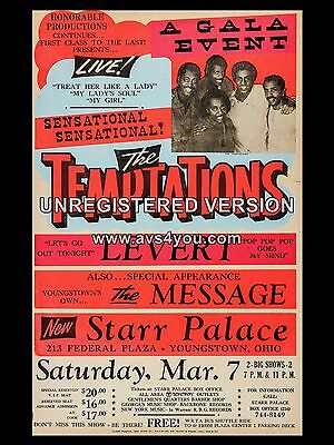 "The Temptations Ohio 16"" x 12"" Photo Repro Concert Poster"