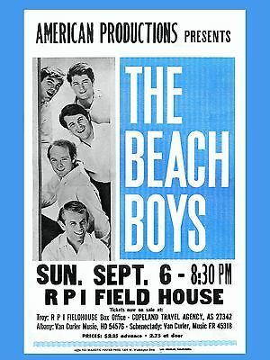"The Beach Boys RPI 16"" x 12"" Photo Repro Concert Poster"