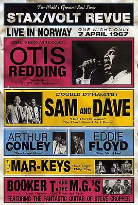 "Otis Redding / Sam and Dave Norway 16"" x 12"" Photo Repro Concert Poster"