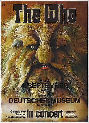 "The Who German 16"" x 12"" Photo Repro Concert Poster"