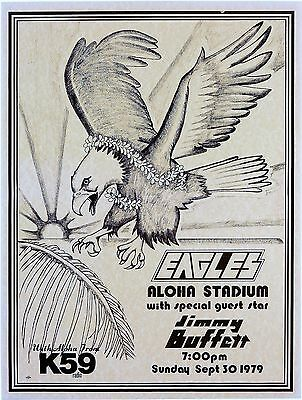 "The Eagles Aloha 16"" x 12"" Photo Repro Concert Poster"