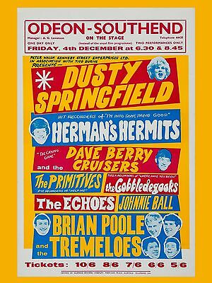 """Dusty Springfield Southend Odeon 16"""" x 12"""" Photo Repro Concert Poster"""
