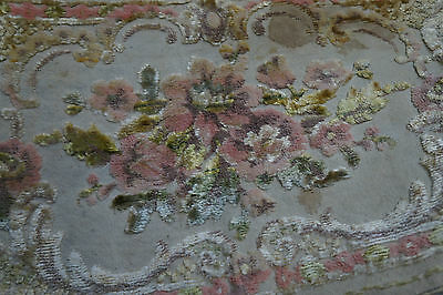 Antique Silk Chenille Velvet Runner