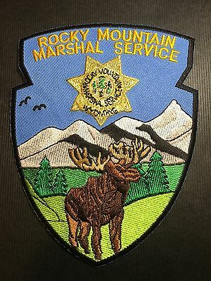 Rocky Mountain Wyoming Marshal Service  Shoulder Patch