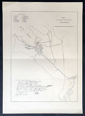 1888 Picturesque Australia Antique Map of Sydney under Gov. Phillip in 1792
