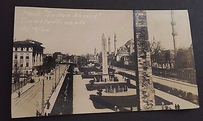 "WWI RPPC Park ""Sultan Ahmed"" Constantinople Real Photo Postcard 3/18/20"