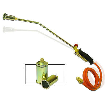 Propane LP Gas Torch 3 Nozzle Tips Ice Snow Melt Pipe Thaw Weed Burner Tool