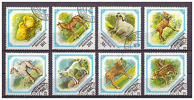 Mongolei, Junge Haustiere MiNr. 1479 - 1486, 1982 used