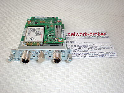 Cisco EHWIC-4G-LTE-G + 2x antenna 4G-LTE-ANTM-D + 2 x Cable 4G-AE010-R