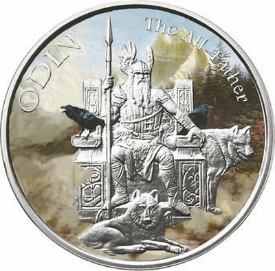 1 oz ODIN Norse God - The All Father - PP - Farbe - Viking / Valkyrie Aufl. 1000