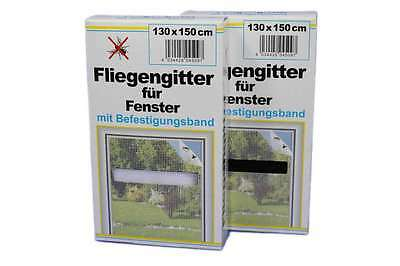 5 x Fly screen 130x150 for window black/white Mosquito net Insect protection
