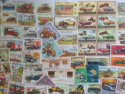 200 Different Cars/Motor Vehicles/Automobiles on Stamps Collection
