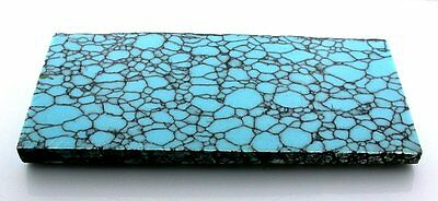 220 Gram Carving Block Blue Spiderweb Synthetic Turquoise Cab Cabochon Rough #17