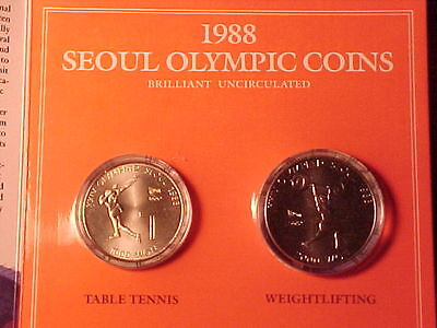 South Korea Seoul Olympics 8-Coin Official Commemorative Boxed Set 1988 Gem Bu