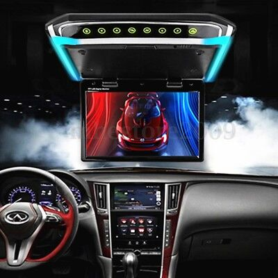 10.1'' Wide LCD TFT Car Ceiling Flip Down Monitor Auto Roof Mount Player +Remote