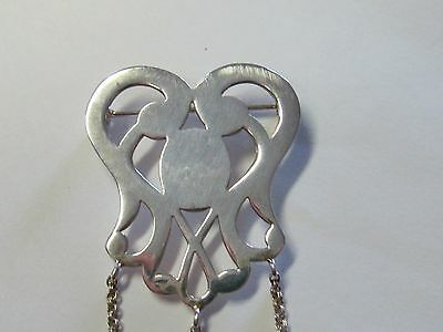 Heart Design Sterling Silver Chatelaine Pin  - New (Last Ones!!)
