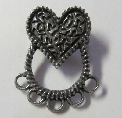 Heart Pewter Chatelaine Pin - New (Last Ones!!)