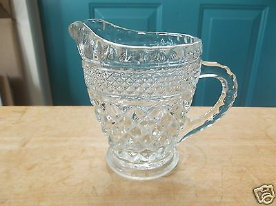 Anchor Hocking Wexford Clear Glass Creamer