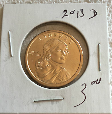 2013 Sacagewea US Dollar Coin D in BRILLIANT UNCIRCULATED (BU) Condition