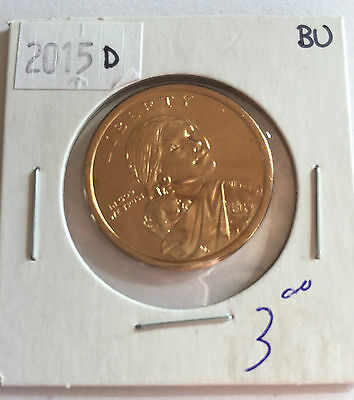 2015 Sacagewea US Dollar Coin D in BRILLIANT UNCIRCULATED (BU) Condition