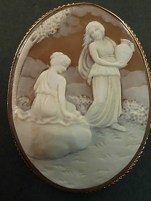 9ct GOLD MOUNTED CLASSICAL SHELL CAMEO