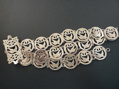 Stunning 1904 Chester Silver Bird Belt And Buckle