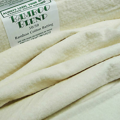"Bamboo Blend 50% bamboo / 50% Cotton Wadding 44"" / batting quilting patchwork"