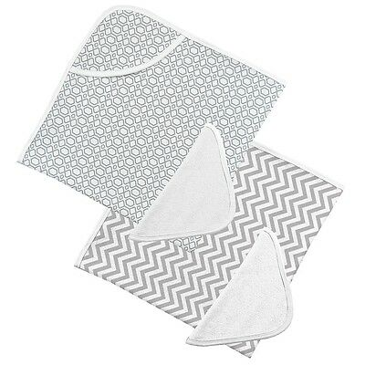 Kushies Hooded Towel and Wash Cloth - Neutral- 2pack