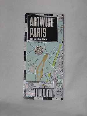 Artwise Paris France Map Laminated Museum Map 2013