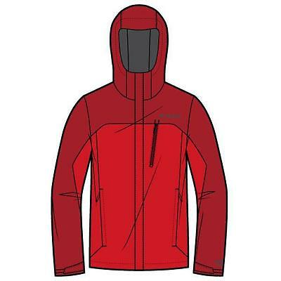 Columbia Pouring Adventure Bright Red Chaquetas impermeables