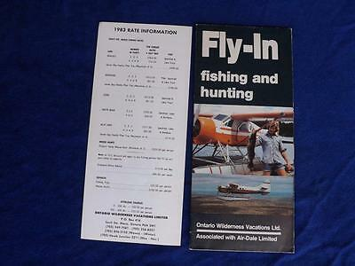 Travel Advertising Brochure Fly In Fishing And Hunting Onario Wilderness