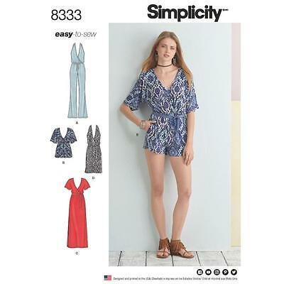 SIMPLICITY SEWING PATTERN Misses Easy To Sew Dress & Jumpsuit Size 4 ...