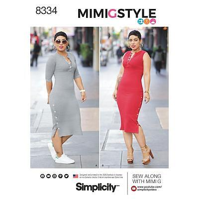 Simplicity Sewing Pattern Misses Knit Dress Size 8 - 26 8334